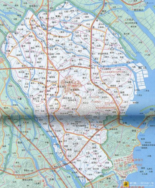 中山旅游地图图片
