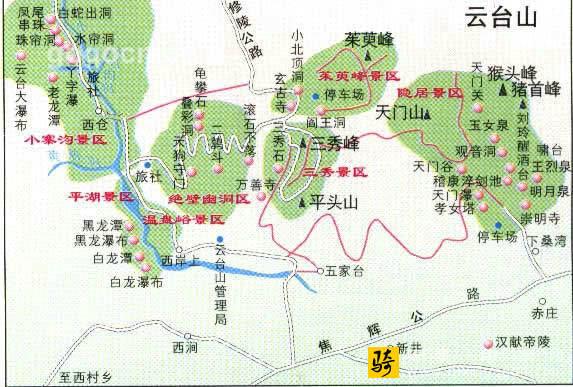 云台山风景区地图(2)_河南