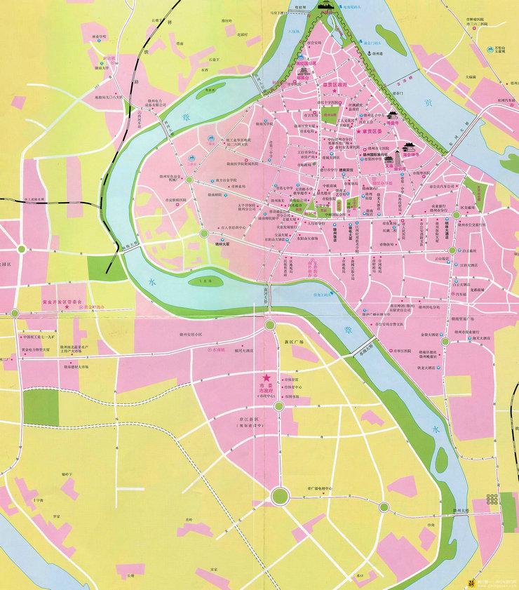 最新赣州市区地图