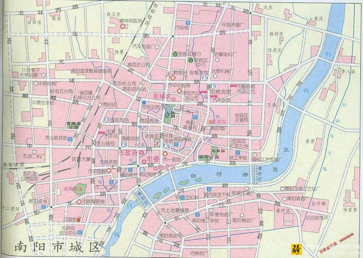 南阳市城区地图
