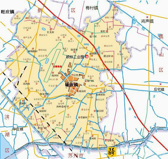 无锡新区硕放地图