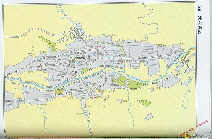 天水市市区地图