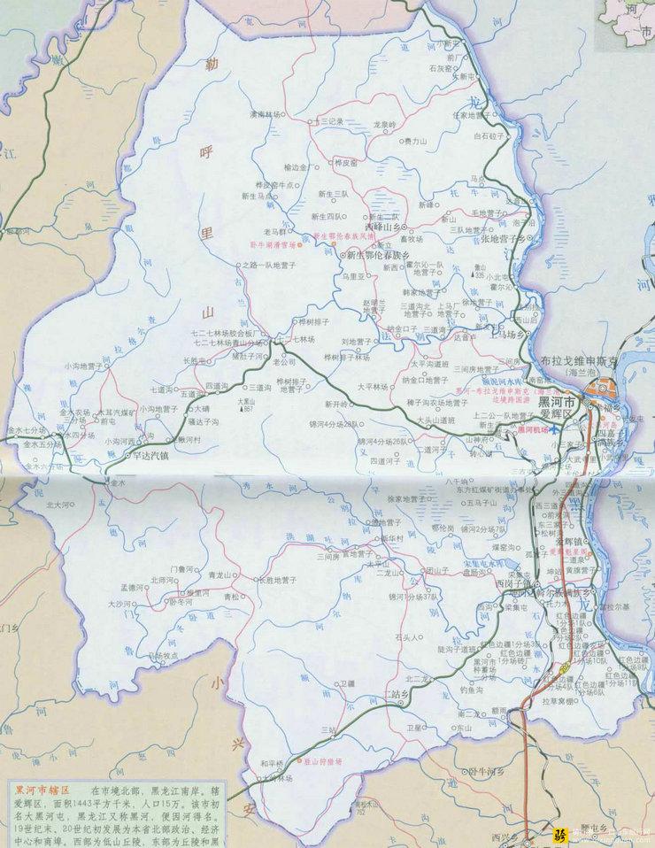 黑河旅游地图