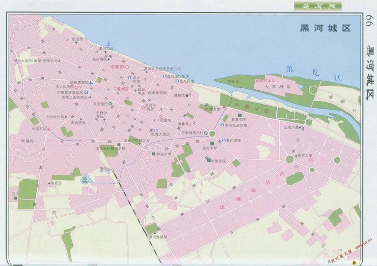 黑河市市区地图