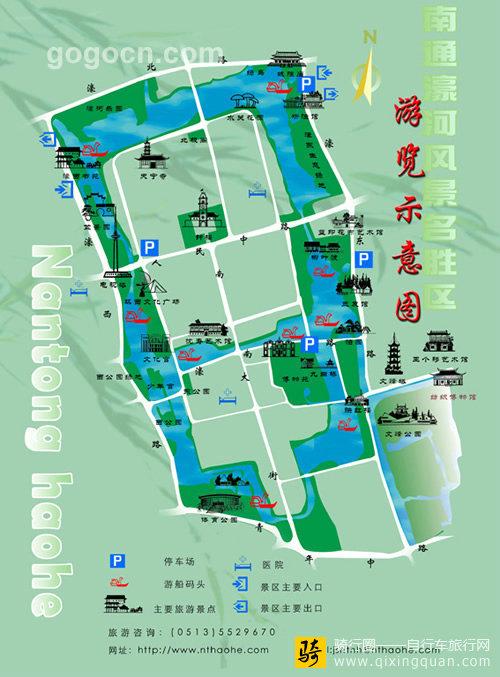 南通濠河风景名胜区地图