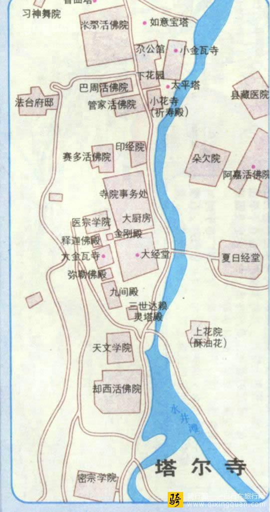 塔尔寺地图_青海_西宁旅游地图