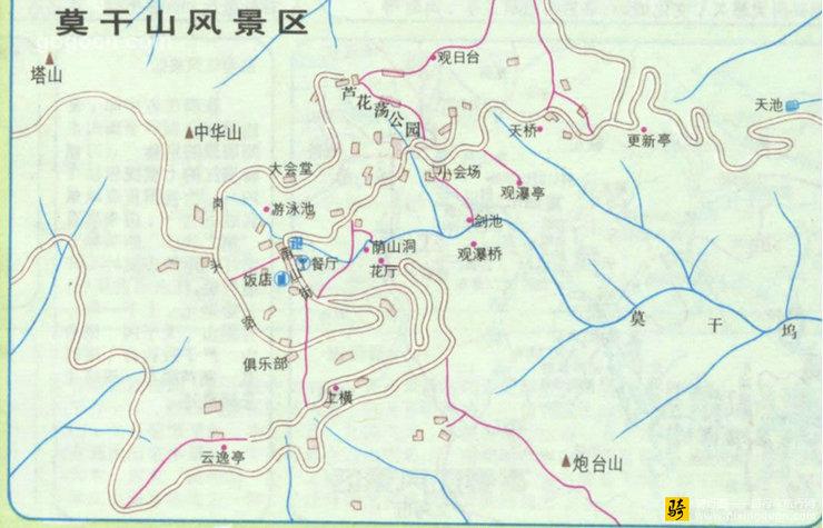 莫干山风景区地图(2)_旅游地图