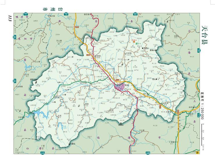天台县地图_浙江_台州旅游地图