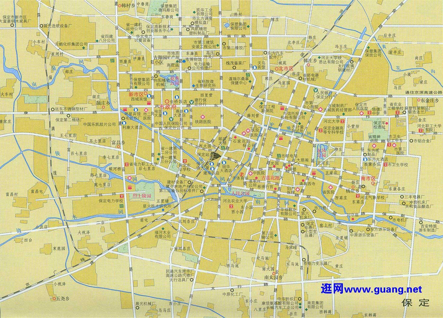 保定市区地图查询 保定市区地图下载 骑行圈