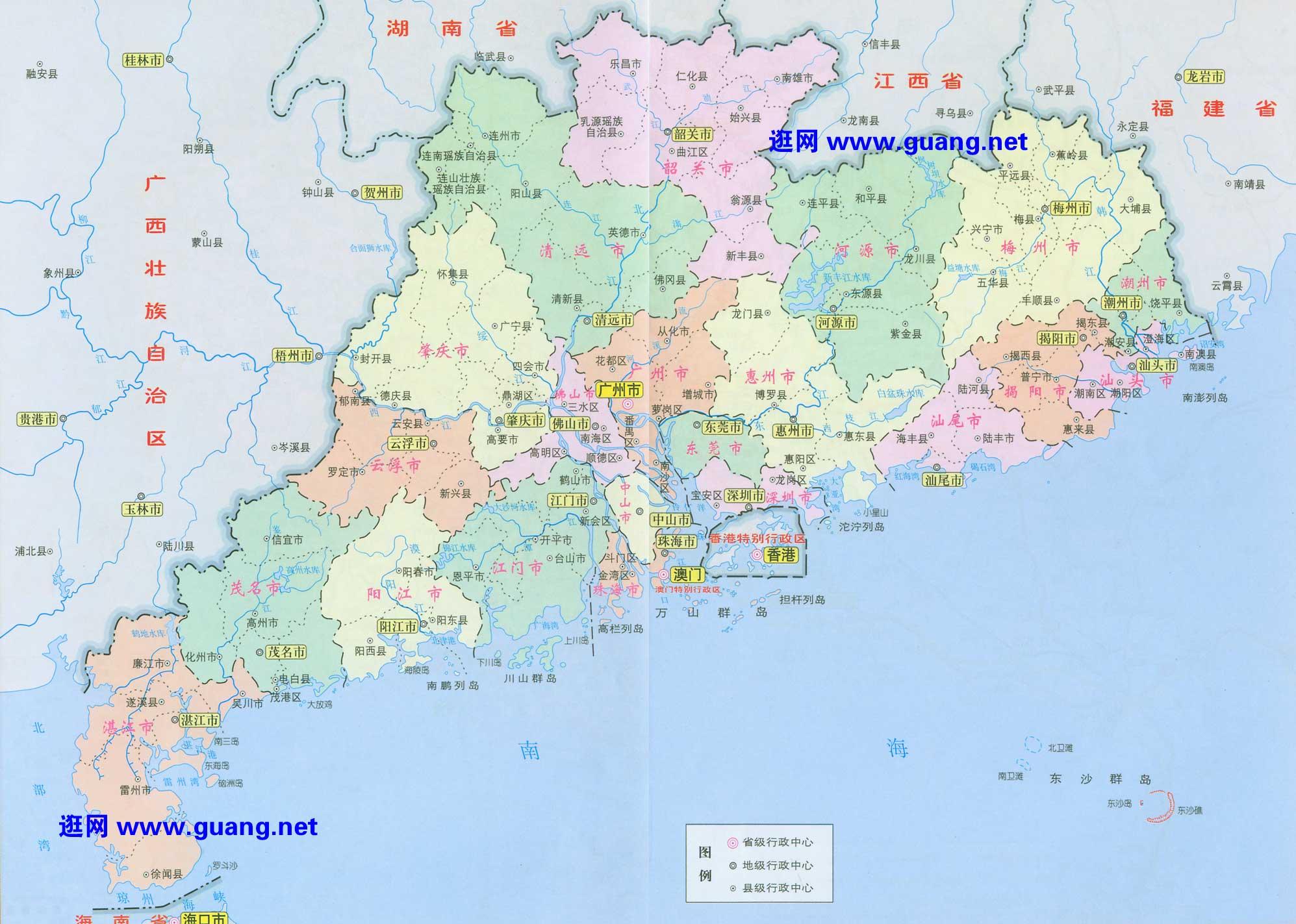 广东省地图查询 广东省地图下载 骑行圈
