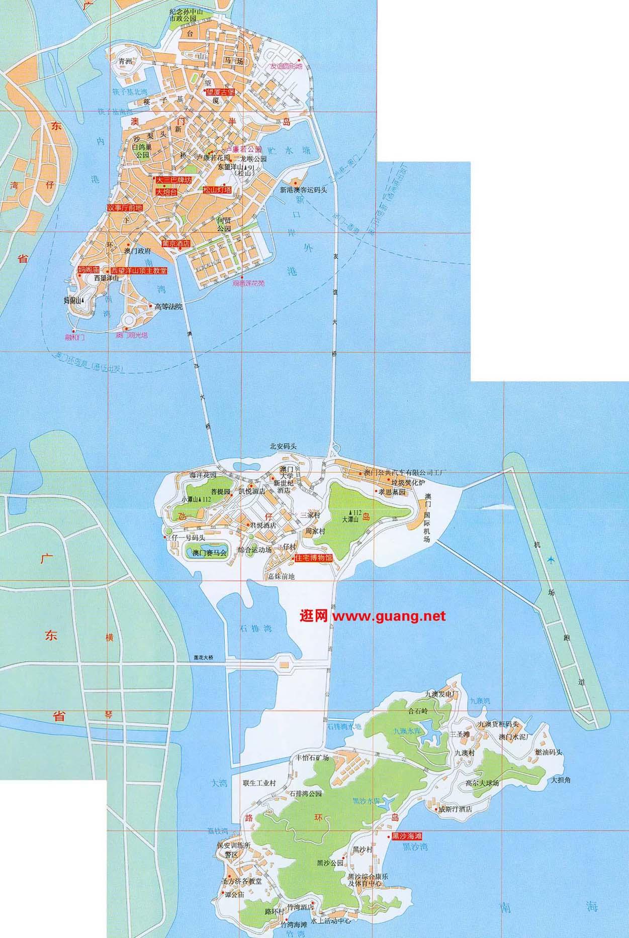 澳门地图查询_澳门地图下载_骑行圈_自行车旅
