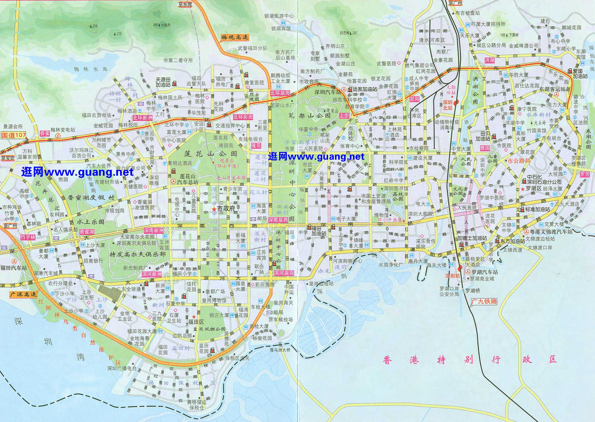深圳市区地图全图高清版_汕头市区地图全图高清